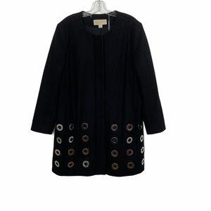 Michael Michael Kors Grommet Wool Coat Jacket